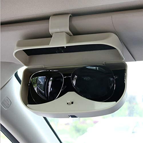 ZREED Tragbar Auto Sonnenbrillen Fall Inhaber Brille-Kasten-Speicher for Jeep Renegade 2014 2015 2016 Auto-Organisator Zubehör zur Aufbewahrung von Autogläsern (Color Name : Beige)