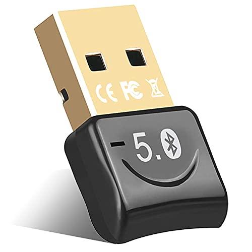 YiYunTE Adaptador Bluetooth 5.0 USB para Ordenador Transmisor Receptor Bluetooth para Auriculares...