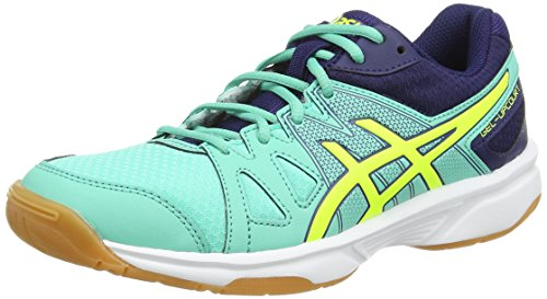 Asics Asics Gel-upcourt, Damen Squashschuhe, Blau (aqua Mint/flash Yellow/indigo 7007), 37.5 EU
