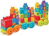 Mega Bloks Le train des Lettres, briques et jeu de construction, 60 pièces, jouet pour bébé et enfant de 1 à 5 ans, DXH35