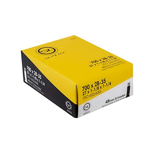 Sunlite Tube 700 x 28-35 (27 x 1-1/8 - 1-1/4) 48mm Long SCHRADER valve