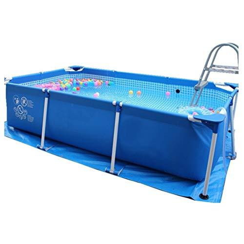 Soporte para piscinas hinchables para niños y adultos al aire libre piscina grande al aire libre piscina grande para el hogar bañera plegable gran espacio (color: azul, tamaño: 260 x 160 x 65 cm)
