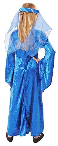 Burgfräulein Prinzessin Helena Blau Silber Gr. 140 - 3