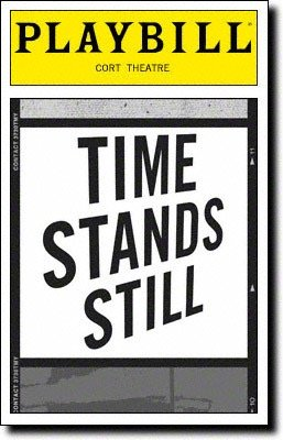 Playbill from Time Stands Still from The Cort Theatre starring Brian d Arcy James Laura Linney Eric Bogosian Christina Ricci