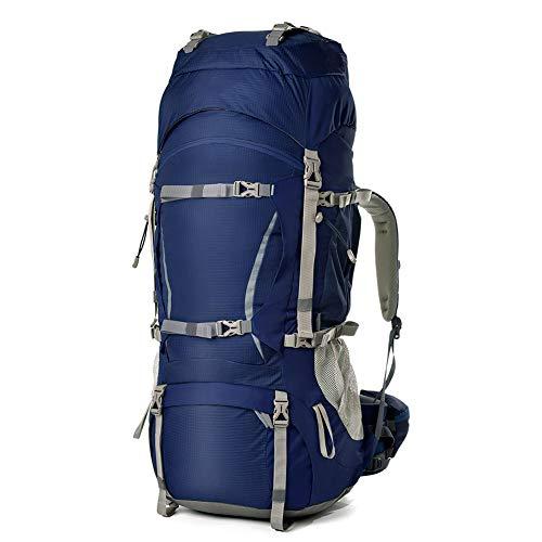 ASDFGHJKL 70L Hiking Backpack Waterproof Backpack, Camping Trips, Mountaineering, Climbing, Trekking, Backpacking,Dark Blue