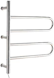 Heated towel rail Radiador eléctrico para Toallas de Acero Inoxidable 304, Calentador de Toallas eléctrico de Pared de 55 vatios, Perchero, Secado a Temperatura Constante, 640X560X120mm