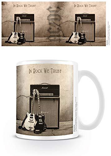AC/DC - In Rock We Trust Tasse Mug Becher NEU in Geschenkverpackung