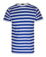 """· New In Fashion · Casual and Comfortable Wear · Men's Red & White, Black & White and Royal Blue & White Stripe Top T Shirt · Short Sleeve Stripey T-Shirt Top · Stripes are Approx 2.5cm Wide Available Sizes For Boys: Boys 7-8 YRS (32"""" CHEST) Boys 9-1..."""