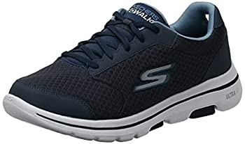 Skechers mens Gowalk 5 Qualify - Athletic Mesh Lace Up Performance Walking Shoe Sneaker Navy 10 US