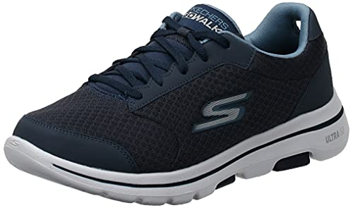 Skechers Men's Go Walk 5 Qualify Trainers, Blue (Navy Textile/Synthetic/Trim Nvy), 12 UK (47 EU)