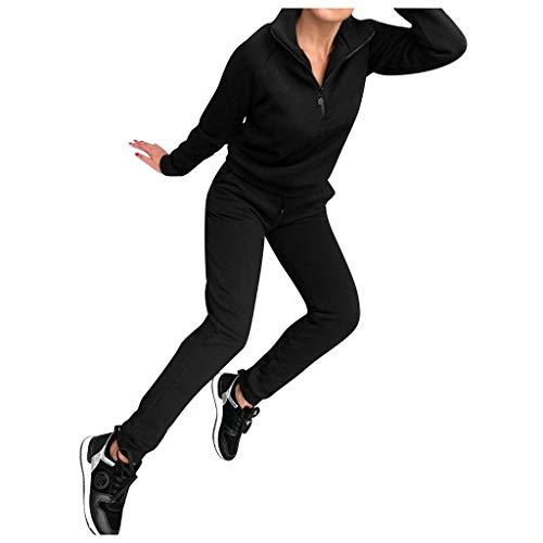 Sportanzug Damen Sport Lange Ärmel Solide Pullover Sweatshirt Hose Trainingsanzug Damen Sets
