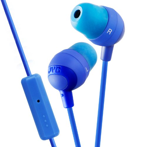 JVC HAFR37A Marshmallow Headphones with Mic, Blue