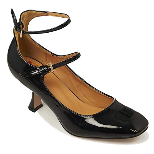 Banned Retro Lackleder Pumps - Margarita Schwarz (40)