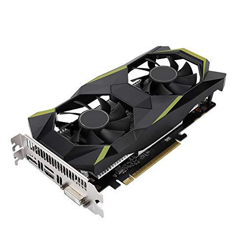 Scheda Grafica 3D GDDR5 GTX 1050 da 2 GB, PCIe 4k 64 Bit 16x / 2.0/3.0, Scheda Grafica Video per Giochi per Computer con Ventola di Raffreddamento 2 * 95 Mm, Scheda Grafica HDMI + DP + DVI