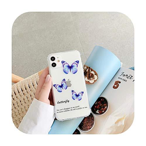 Funda para iPhone X XR XS Max 8 7 Plus con diseño de mariposa, coque-mariposa D para iPhone 11Pro Max