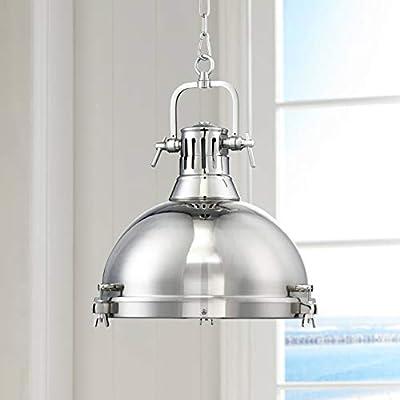 "Arlo Chrome Pendant Light 15 3/4"" Wide Modern Farmhouse Industrial Metal Fixture for Kitchen Island Dining Room - Possini Euro Design"