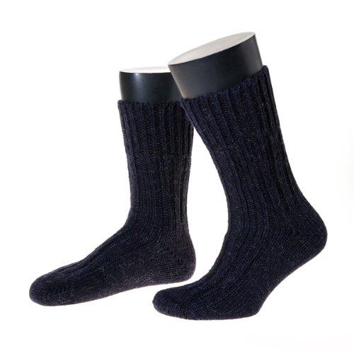 NORDPOL-Strümpfe Schafwollsocken, 100% Schurwolle, wie selbstgestrickt. (39-41, marine)
