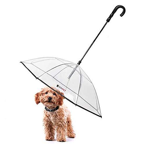 LESYPET Pet Umbrella Dog Umbrella with Leash, Fits...