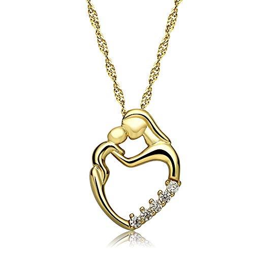 ITVIP 'Amore Profundo' - Collar para mujer, colgante de corazón, para enviar a mamá, suegra, collar para el día de la madre, regalo para mujer