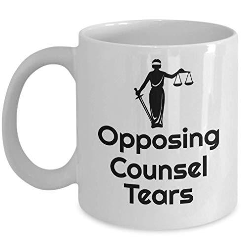 N\A Cristalería y Bebidas Taza de café Scales of Justice Lágrimas de Abogado opuesto - Regalo Divertido para Abogado de Defensa Taza de café novedosa de 11 oz para Oficina