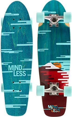 Mindless - Longboard Sunset Cruiser Longboard Unisex Adulto, Unisex Adulto, ML5400, Verde (Green), 7.75'