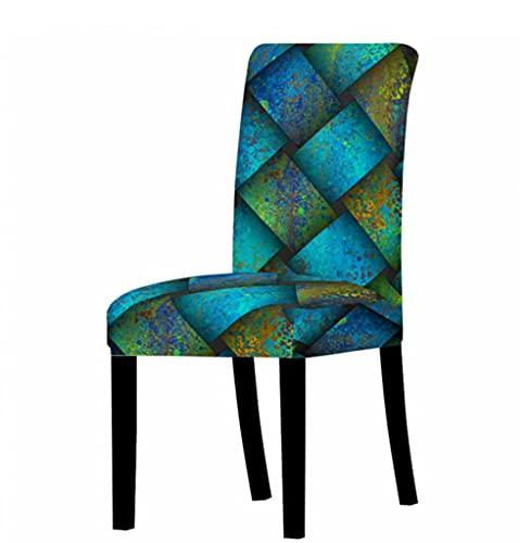 Fundas de silla de spandex fundas de asiento de escritorio fundas de asiento protector para hotel banquete boda 3D tejido patrón