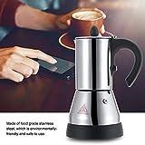 Macchina per caffè espresso, moka, caffettiera elettrica in acciaio inossidabile, 200/300 ml(200ml)