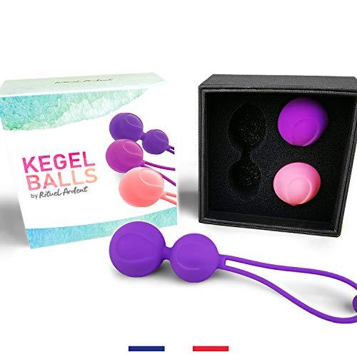 Kegel Ball de Rituel Ardent - Boules de geisha de reeducation du perinee pour femme - Oeuf de yoni...