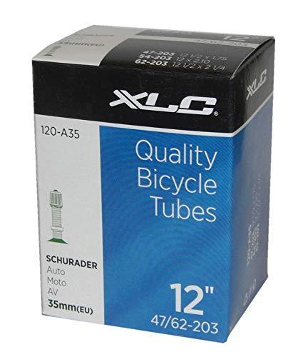 XLC 2508120200 Fahrradschlauch 12 1/2 x 2 1/4 47-203, 54-203, 62-203 AV 33 mm