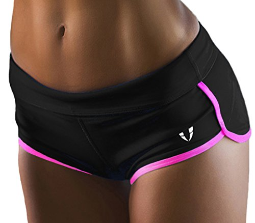 FIRM ABS Women's Pro Cool 3-Inch Compression Shorts Black/Pink Small