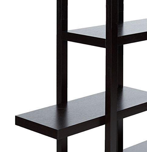 Monarch Specialties Cappuccino Finish Open Concept Display Etagere