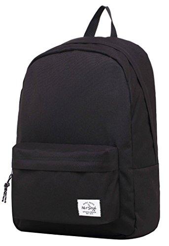 SIMPLAY Classic School Backpack Bookbag, Black