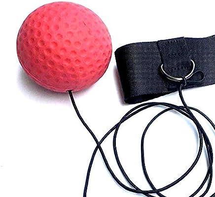 Boxing Reflex Ball Fight Reflex Ball an der Schnur mit verstellbarem Kopfband f/ür bessere Beweglichkeitsreaktion Schlaggeschwindigkeit Hand- und Augenkoordination