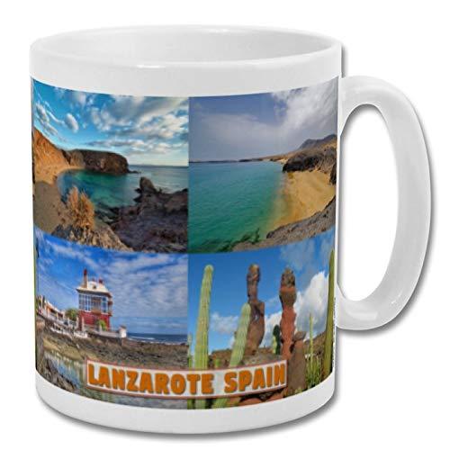 Lanzarote Spain - Taza de recuerdo de 10 onzas
