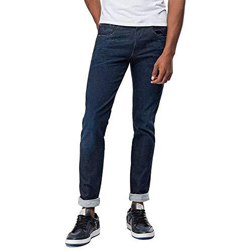 REPLAY Anbass Jeans, Dark Blue E03, 28W / 32L Uomo