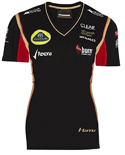 Fórmula uno 1 Lotus F1 Team Burn Raikkonen negro 2013 señoras camiseta Negro negro Talla:mediano