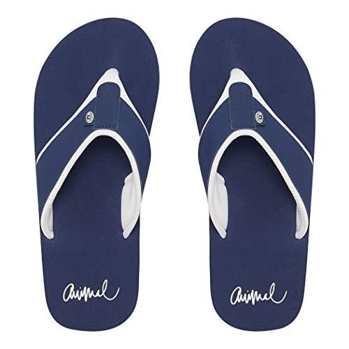Animal Womens Swish Block Flip Flops Dark Navy FM9SQ303 Womens Footwear Size - 7