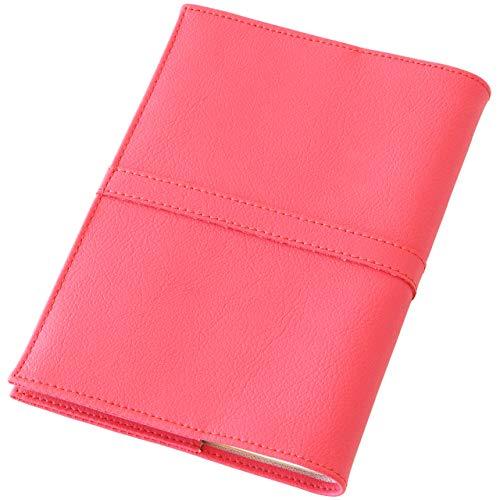 TEES FACTORY 国産 PVC レザー ブック カバー SION 御朱印帳(小)判 しおり付き ピンク 合成皮革