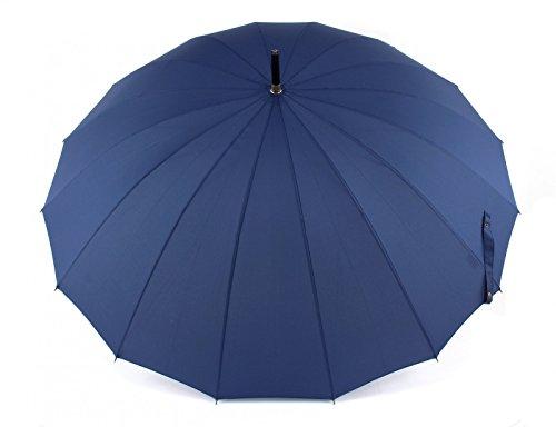 Doppler Regenschirm Natural London, Marine (Blau), Länge ca. 89 cm, Durchmesser ca. 5 cm