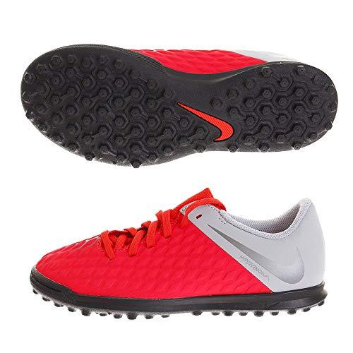 Nike Jr Hypervenom 3 Club Tf, Scarpe da Calcetto Indoor Unisex-Bambini, Multicolore (Lt Crimson/Mtlc Dark Wolf Grey 600), 36.5 EU