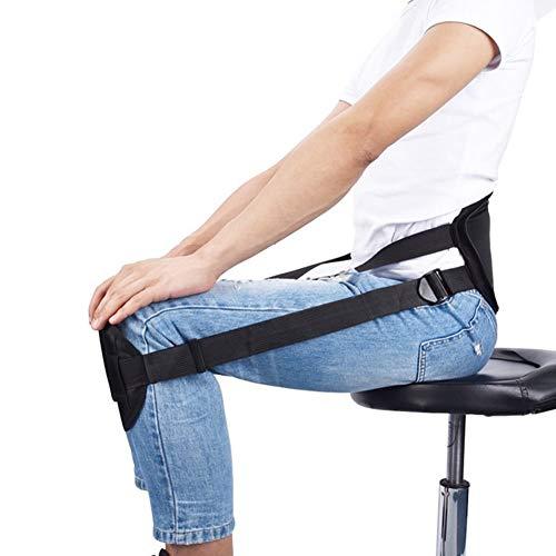 AMPHIARAUS Ergonomic Lower Back Posture While Sitting Waist Protector Lumbar Support Brace Belt Strap Cushion Pain Relief Better Sitting Posture Corrector Adjustable Belt & Portable