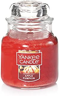 Yankee Candle Apple Pumpkin Small Jar Candle, Food & Spice Scent, 3.7 OZ