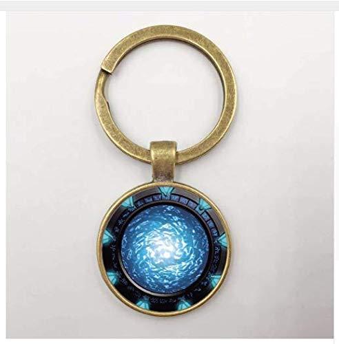Llavero de portal Stargate, llavero de cristal para fotos
