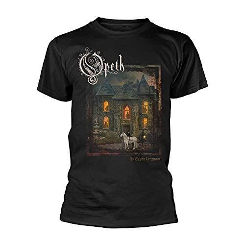 Yaxinduobao Opeth T-Shirt Uomo in Cauda Venenum Nera