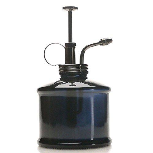 Purisienstijl plant Mister -zwarte kleur glazen fles & messing spuitapparaat (Gun Metal)