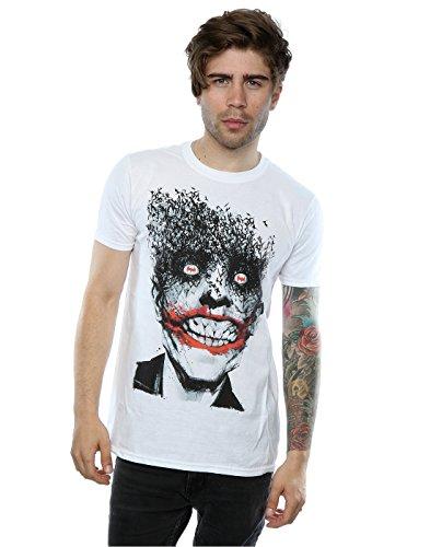 DC Comics Herren Batman The Joker Bats T-Shirt Medium Weiß