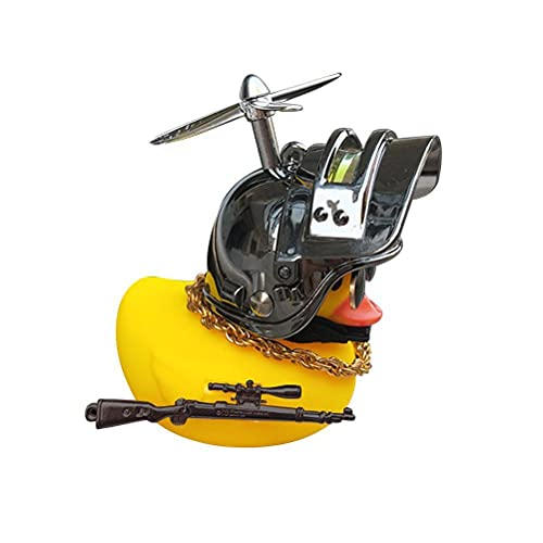 Decoración de pato, decoración frontal de bicicleta, bonito juguete de patito de goma, adecuado para niños, niñas, niños y adultos. Color gris.