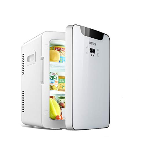 Mini réfrigérateur 25L domestique petit réfrigérateur de réfrigération pratique for transporter des voitures à l'aide d'un petit réfrigérateur, 50 * 37.2 * 30.9cm (Color : White)