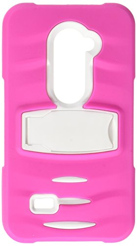 Eagle Cell Phone Case for LG Tribute 2 LS665/Destiny L21G/Power L22C - Retail Packaging - ST8 White/Hot Pink