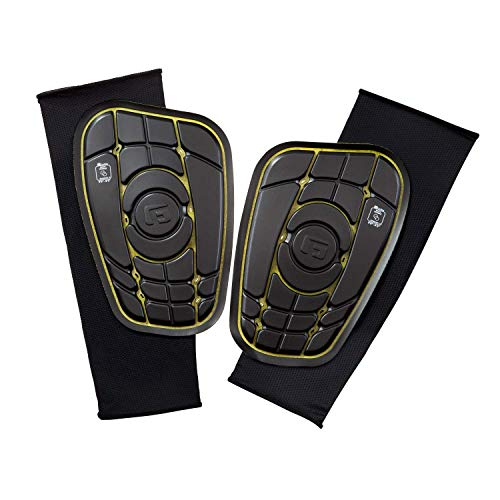 G-Form Pro-S Elite Lite - Espinillera (Talla pequeña), Color Negro y Amarillo